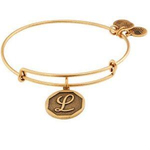 """L"" initial Alex and Ani bracelet"